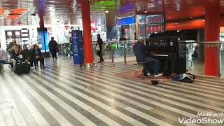 Soulful music...in foreign railway station