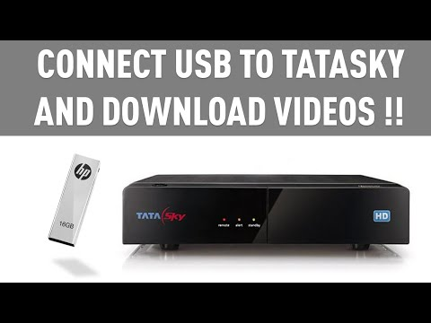 Connect USB Pendrive to TataSky and...