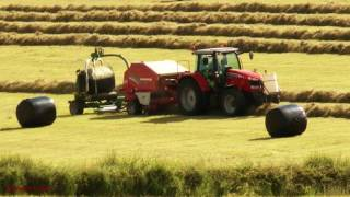 Hay-Making - Baling and Wrapping.