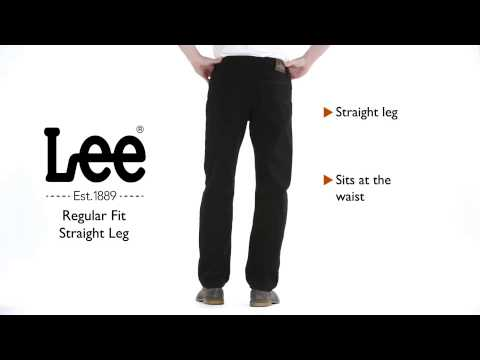 Lee Jeans Regular Fit Straight Leg Jean Youtube
