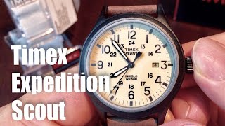 """Timex Men's T49963 """"Expedition Scout"""" Watch with Brown Leather Band"""