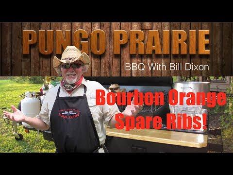 Bourbon Orange Barbecue Spare Ribs
