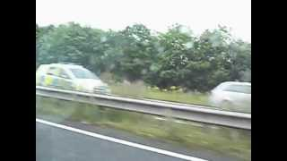 Derbyshire Police- X2 Vauxhall Zafira Dog Section On Emergency Call.