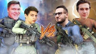 HYPER и CLAYNESE vs. COFFI и ALEX FOX В КС:ГО! (CS:GO Смешные Моменты)