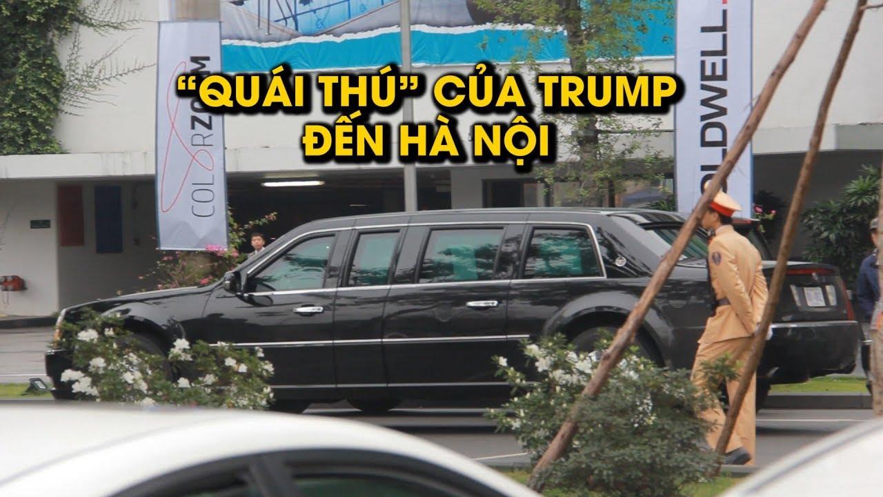 Cận cảnh siêu xe 'Quái thú' của chủ Tổng thống Mỹ Donald Trump vừa đến Hà Nội