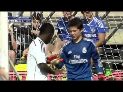 Real Madrid goalkeeper makes absolute howler after 21 seconds of youth match