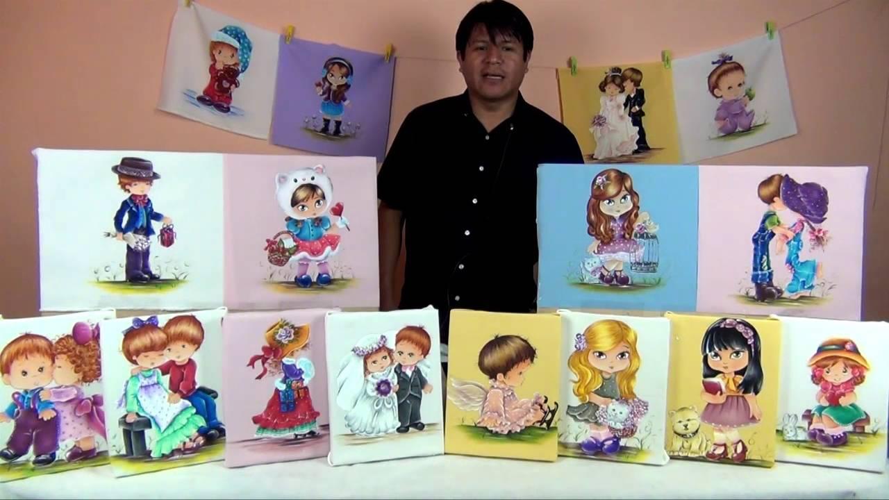 Pintar mu ecas en tela 1 4 youtube - Dibujos para pintar en tela infantiles ...