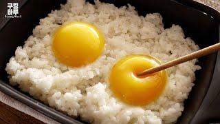 촬촬! 비벼 만든 전자레인지 치즈 스팸 계란밥!!