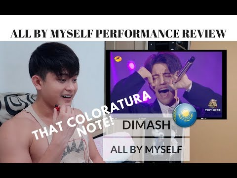 [REACTION] DIMASH with his COLORATURA NOTE while singing ALL BY MYSELF | #JANGReacts