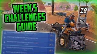 Saison 6, Semaine 5 Fortnite Week 5 Challenges Easy Guide (Semaine 5 Battle Pass) - Fortnite