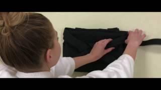 Aikido - How to fold a hakama