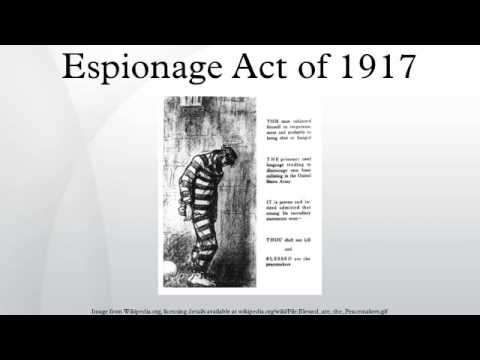 an analysis of the espionage act of 1917 in the united states The sedition act was a critical factor in the demise of the federalist party,   when the united states entered the war in april 1917, there was.