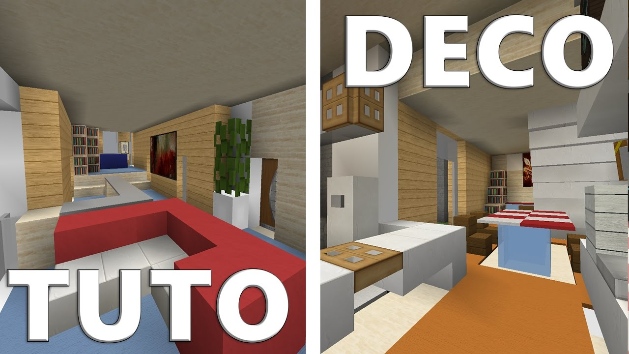 Tuto deco maison moderne minecraft youtube for Decoration interieur de maison moderne