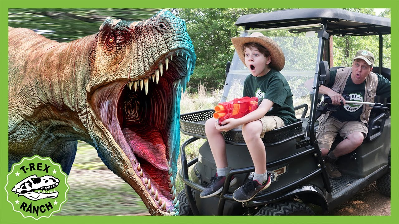 Searching for the Cowboy's Treasure! T-Rex Ranch Dinosaur Videos for Kids!