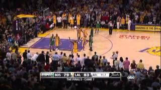 NBA Final 2010 - Game 7 (B.Cel:Lak 79-83) Last 2 points - Sasha Vujacic