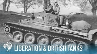 Liberated French Soldiers & British Cromwell Tanks: World War II (1945) | British Pathé