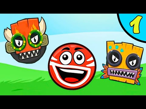Несносный КРАСНЫЙ ШАР против злодеев в масках #1. Зеленые холмы 1. Мультик Red Ball на Игрули TV