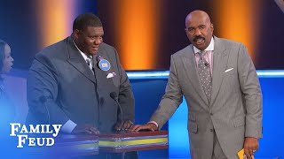 Big or little… there's ONE THING all guys LOVE!! | Family Feud
