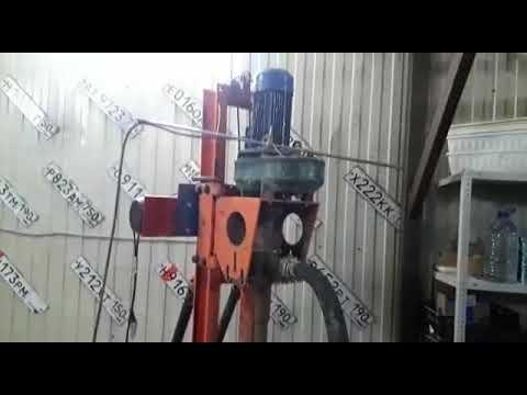 Бурение скважин на воду в гараже малогабаритной буровой установкой