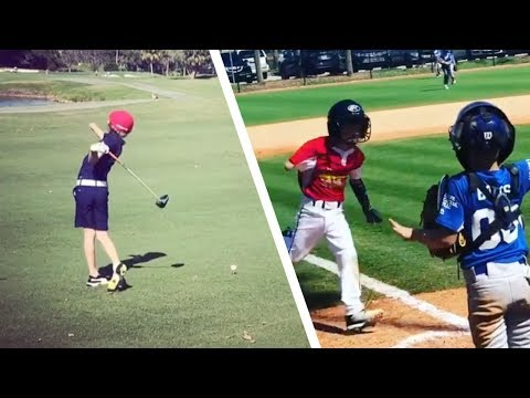 V Mornings - 7-Year-Old 'One Arm Golfer' Also Plays Baseball and he Hits Home Runs