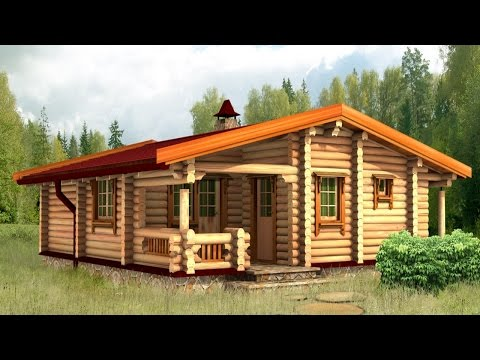 Проекты домов и коттеджей из бревна