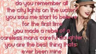 Mine - Taylor Swift (With Lyrics)