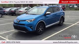 Certified 2016 Toyota RAV4 SE AWD For Sale - Falmouth Toyota of Bourne - Serving Cape Cod Hyannis MA