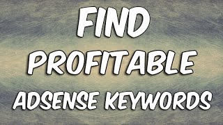 How To Do Keyword Research For Adsense Websites - SUPER EASY