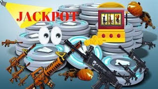 FORTNITE JACKPOT! GIVING 2 RANDOM GUYS ALL MY WEAPONS FOR FREE