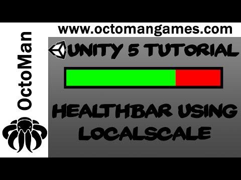 Unity 5 Tutorial: Easy Health Bar C# - using localScale