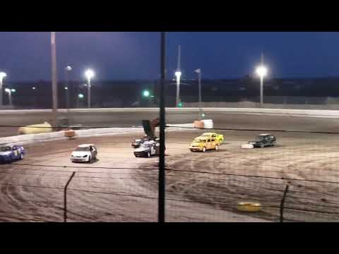 Sycamore speedway racing July 12, 2019 Compact Combat Heat 1 Pre Caution