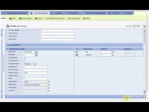 Avaya /  VERINT WF0 12 How to create an Agent Profile
