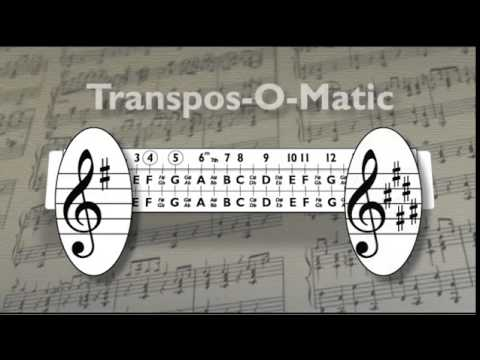 Transpos-O-Matic Music Sliderule
