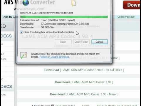 lame acm mp3 codec gratuit