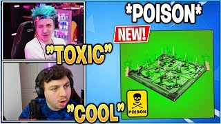 "Streamers React to *NEW* ""POISON TRAP"" Coming to Fortnite!"
