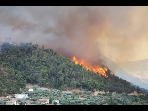 KTF News - No end to Greek inferno as wildfires rage into the night