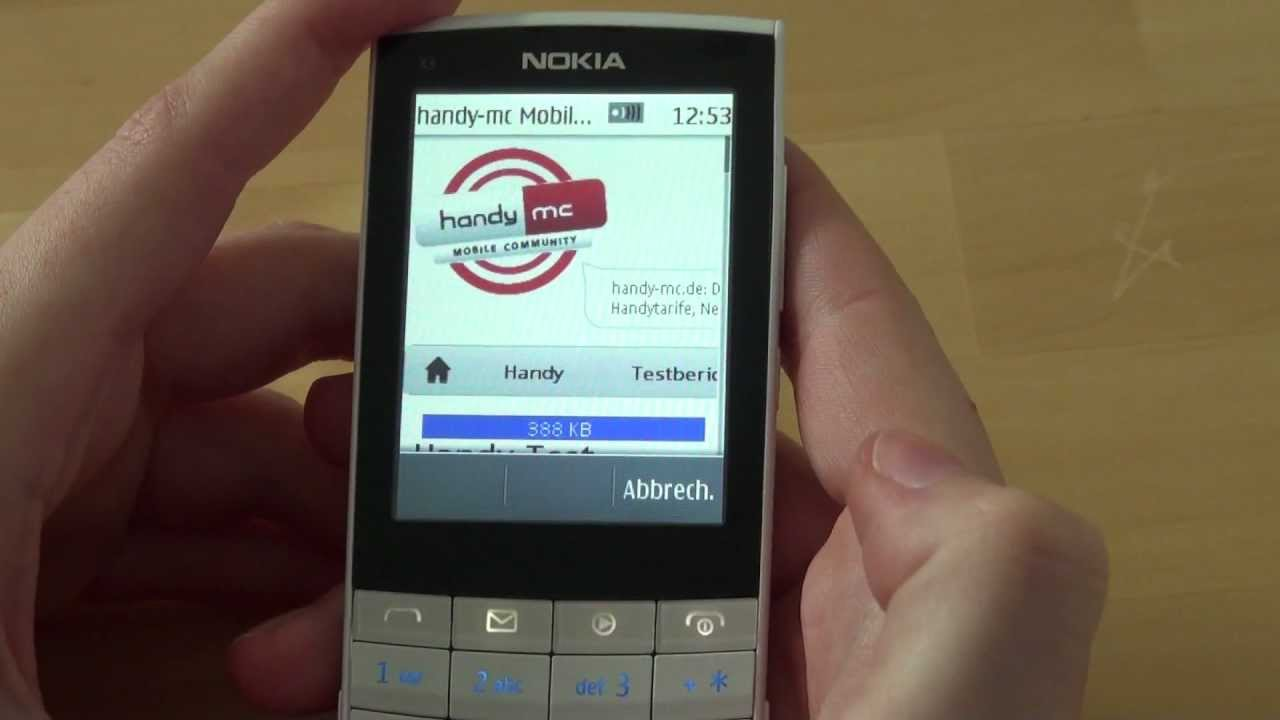 Nokia X3-02 Touch and Type Test Internet