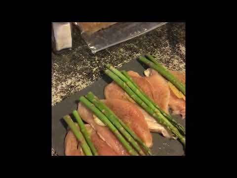 Asparagus Stuffed Chicken Breast With Bacon