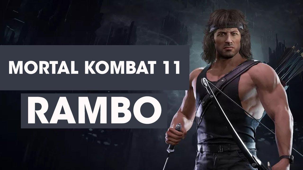 MORTAL KOMBAT 11: PRIMER GAMEPLAY DE RAMBO, CON LA VOZ DE SYLVESTER STALLONE