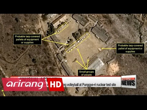 Satellite images show workers playing volleyball at N. Korean nuclear test site