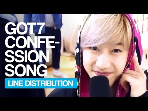 GOT7 - Confession Song Line Distribution (Color Coded) | KPOP Christmas Countdown