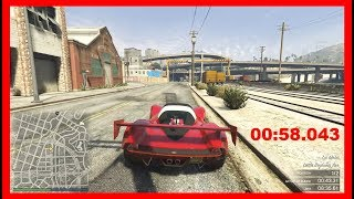 GTA 5 Online Hot Lap in Supercar ! Personal Record 00:58.043 Downtown Underground