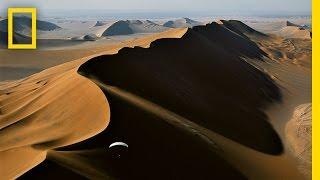 Paragliding Above Extreme Desert Sands