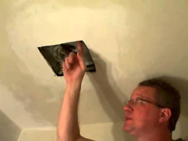 Replace A Bathroom Fan Broan Fan Youtube