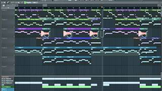 Kanye West All Of The Lights FULL INSTRUMENTAL NO LOOPS With Interlude (FL Studio Remake by Jaf)