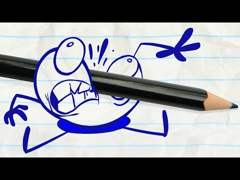 Pencilmate Tries to Eat Sushi! -in- CHOPSTICKY SITUATION - Pencilmation Cartoons for Kids