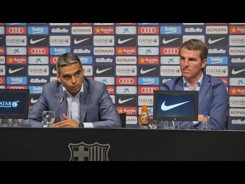 Press conference with Albert Soler and Robert Fernández