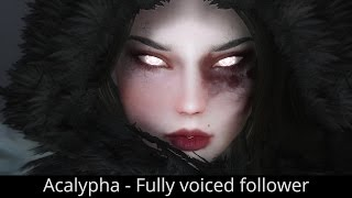 BEAUTIFUL DEMONESS - Skyrim Mods - Acalypha - Fully voiced follower