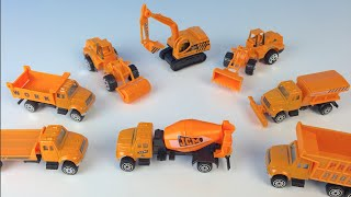 SPEED WHEELS MIGHTY MACHINES DUMP TRUCK CEMENT TRUCK ROLLER EXCAVATOR  FLATBED TRUCK BULLDOZER