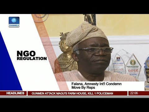 Falana, Amnesty Int'l Condemn Proposed NGO Regulation Bill Pt 1 | News@10 |